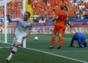 UEFA Euro 2012: Denmark stun Netherlands 1-0