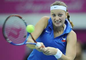 Fed Cup: Kvitova hands Czech Republic early lead
