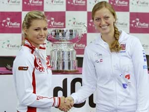Kvitova to face Kirilenko in Fed Cup final opener