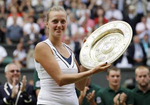 Kvitova stuns Sharapova to win Wimbledon title