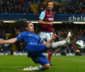 Premier League: Frank Lampard's landmark goal lifts Chelsea up to third