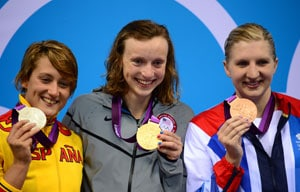London 2012 Swimming: America's Ledecky wins women's 800m free gold