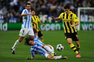 Champions League: Borussia Dortmund denied in Malaga stalemate
