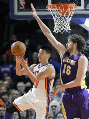 Lin scores 38 to lead Knicks over Lakers 92-85
