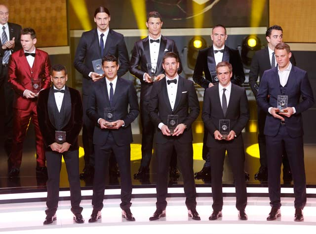 'Red hot' Lionel Messi outdresses Cristiano Ronaldo at FIFA Ballon d'Or ceremony