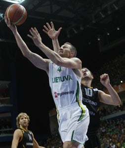 Lithuania joins France, Spain, Serbia in quarters