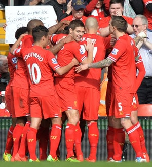 EPL: Liverpool beat Tottenham Hotspur 4-0 to top table