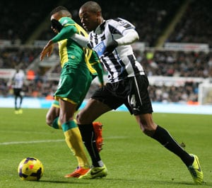 Loic Remy on target as Newcastle beat Norwich City 2-1