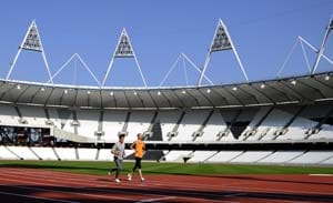 2012 London Olympics athletics track inaugurated