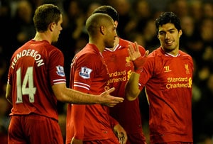 EPL: Luis Suarez scores as Liverpool F.C. move to second after 4-1 win over West Ham