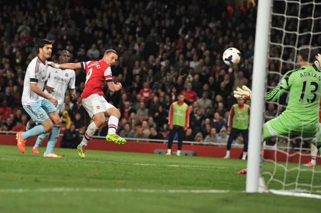 Lukas Podolski double gives Arsenal F.C. crucial victory over West Ham United