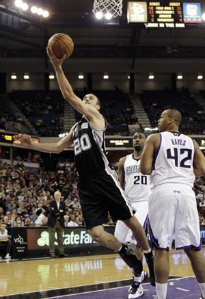 San Antonio Spurs edge Sacramento Kings 117-112