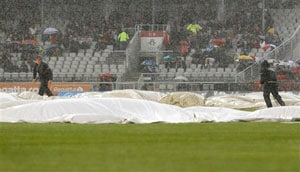 The Ashes: Rain prevents any play on fourth day of final Test to dent Australia's hopes of victory