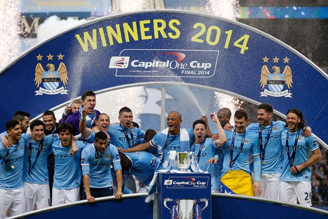 Manchester City beat Sunderland 3-1 to win League Cup