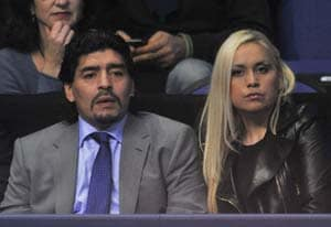 Maradona blasts 'cowards' after wife attack