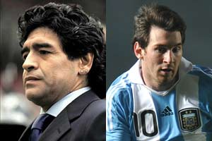 Maradona speaks up for Messi