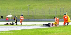 MotoGP death casts shadow at Sepang