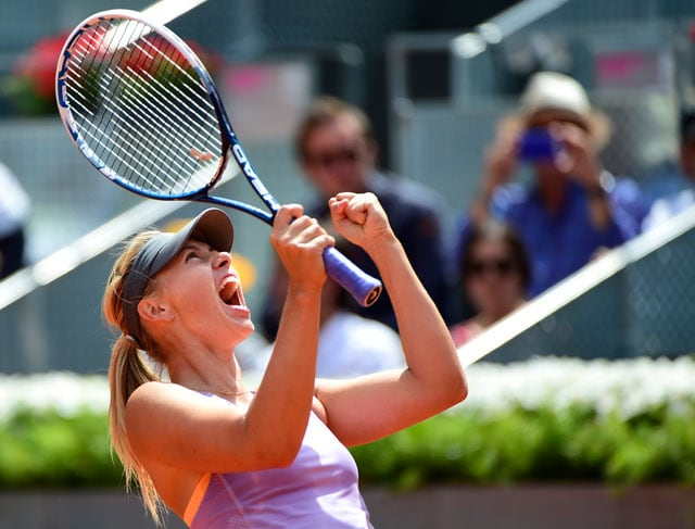 Maria Sharapova Sets Up Madrid Open Final vs Simona Halep
