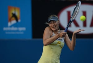 Maria Sharapova scores first bagel double since 1985