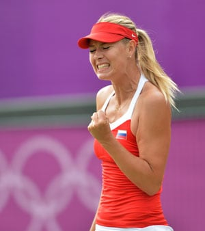 London 2012 Tennis: Maria Sharapova reaches Olympic quarterfinals