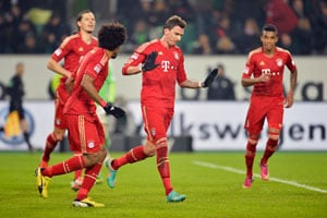 Bayern Munich warm up for Arsenal with Wolfsburg win