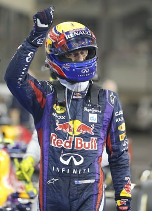Mark Webber equals Aussie pole record in Abu Dhabi