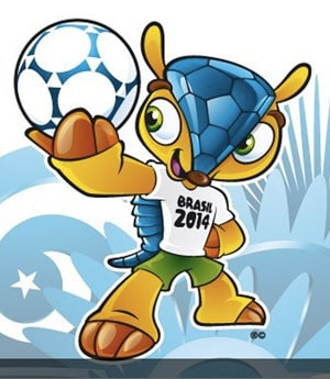 Armadillo unveiled as mascot of 2014 World Cup