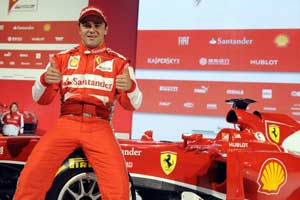 Felipe Massa pleased with new Ferrari car