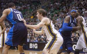 Marion's 22 points lift Mavericks over Jazz 94-91