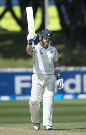 New Zealand skipper Brendon McCullum scores 3rd Test double ton against India