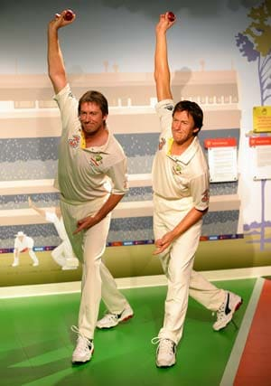 The Ashes legend Glenn McGrath immortalized in wax at Madame Tussauds