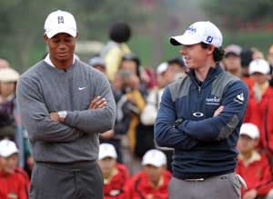 Abu Dhabi Championship: Tiger Woods and Rory McIlroy in battle for survival