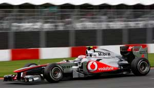 McLarens fastest on 1st day of practice for Australian Grand Prix