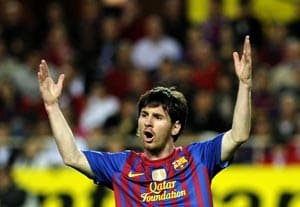 Barcelona says Messi one goal shy of club record