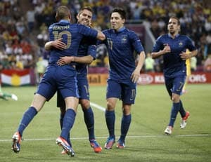 Euro 2012: France brave storm to bring Ukraine down to earth