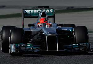 Schumacher 6th in F1 testing in 2012 car