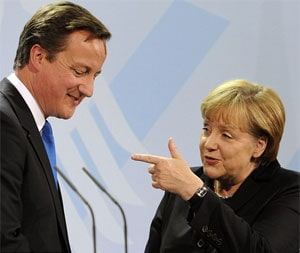 Cameron and Merkel to watch cup final together