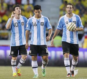 Messi joins rank with Argentine national side