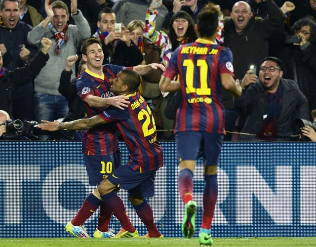 Champions League: FC Barcelona edge 10-man Manchester City to march into quarters
