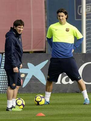 Messi, Ibrahimovic go head to head