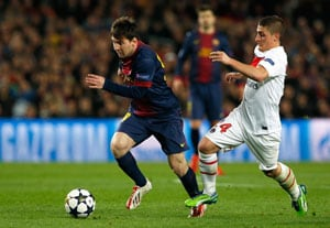 UEFA Champions League: Messi returns to help Barca reach semifinals