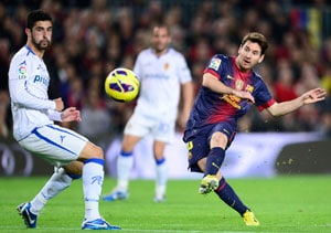 Lionel Messi nets double as Barcelona beats Zaragoza 3-1