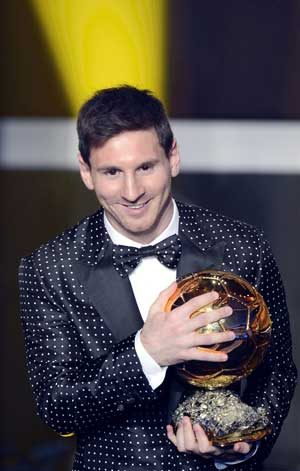 Lionel Messi wins record 4th world's best player award
