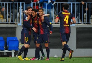 Barcelona boss delighted with variety of scorers