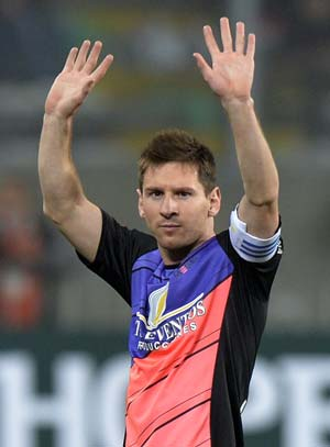 Lionel Messi scores four in charity match