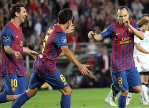 Barca sets club record with Viktoria Plzen win