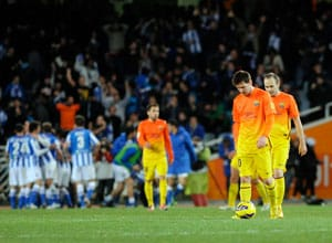 Barcelona suffer first La Liga defeat of season at Real Sociedad