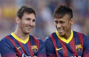 FC Barcelona hoping Neymar nourishes Lionel Messi's magic