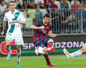 Barcelona held by Lechia Gdansk in friendly