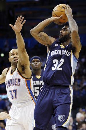 Grizzlies beat Thunder 94-88